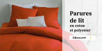 parures de lit coton et polyester